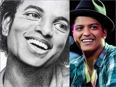 I swear Bruno Mars is secretly one of Michael Jackson's children!!!    MJ at the end of the 70's Bruno in 2010