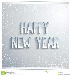 happy new year white