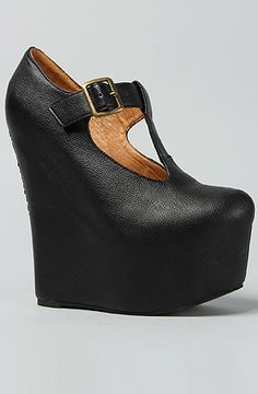 6a1f2e5efafc Wedge, casual smart winter shoe    The Teeter Shoe in Black by Jeffrey  Campbell. Amber Staab