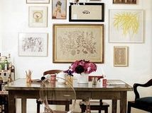 Abundant art and carefully curated vintage furnishings make an open loft personable and warm