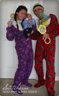DIY Adult & Baby Switcheroo Costumes