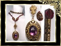 amethyst enamel locket necklace th