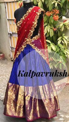 Half Saree Lehenga, Kids Lehenga, Saree Dress, Anarkali, Indian Dresses, Indian Outfits, Indian Clothes, Half Saree Designs, Blouse Designs