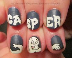 Decorate girls nails to look like Casper at your movie party - A unique movie night theming idea from Southern Outdoor Cinema