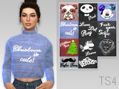 Arthurlumierecc: Sofia Sweater recolor • Sims 4 Downloads
