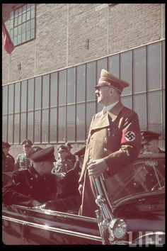 Nazism, commonly known as National Socialism (German: Nationalsozialismus), refers primarily to the ideology and practices of the Nazi Party under Adolf Hitler; and the policies adopted by t Rare Pictures, Historical Pictures, Photos Rares, Germany Ww2, War Photography, The Third Reich, Second World, Life Magazine, World War Ii