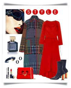 """""""Marni Multicolor Plaid Coat Look"""" by romaboots-1 ❤ liked on Polyvore featuring J.W. Anderson, Marni, Zimmermann, Shaun Leane, Chico's and Estée Lauder"""