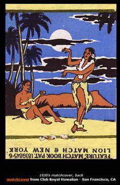 A Hawaii matchbook cover.