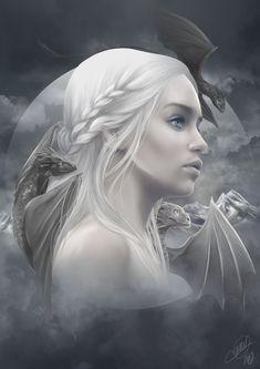 Daenerys Targaryen mère des dragons - Game of thrones