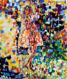 """Gegenlicht"" Künstler: Doro Mahlendorf Öl auf Leinwand, gespachtelt 80cm x 70cm x 2cm #doromahlendorf #malerei #oel #crelala"
