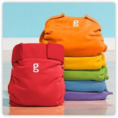 gDiapers - LOVE these diapers - no blowouts, no diaper rash, no chemicals, no stink - and lets be real, they are soooo cute. You can use cloth or disposable (flushable/compostable) inserts. The flushies are like cloth-lite. If you don't have time to do cloth, but still want the health and environmental benefits and no stinky diaper pail, they might be for you.