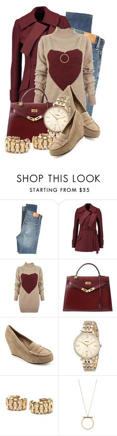 """Untitled #10532"" by queenrachietemplateaddict ❤ liked on Polyvore featuring Citizens of Humanity, Proenza Schouler, Vivienne Westwood Anglomania, Hermès, Dolce Vita, FOSSIL, Roberto Coin and Kenneth Cole"