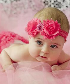 Look at this #zulilyfind! Hot Pink Diaper Cover & Headband by Ella's Bows #zulilyfinds