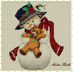 """Snowman with a Teddy Bear"" An adaptation work"
