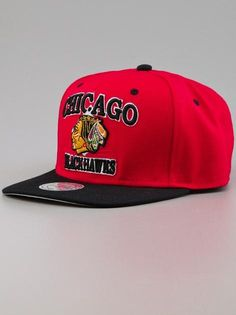 Mitchell & Ness Chicago Blackhawks NHL Patrick Red  #MitchellNess #MitchellAndNess #NHl #ChicagoBlackhawks #Cap #Caps #Cup #Snapback