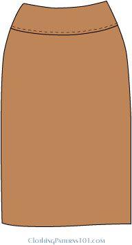 skirt with yoke at waist drafting tutorial (from basic skirt block)