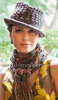 Esquema de crochê chapéu