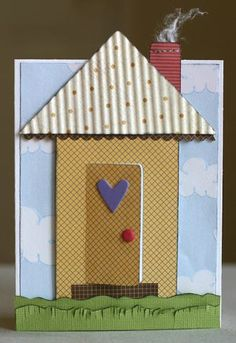 cute house warming card idea.. door opens for message