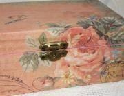 Caja vintage rosa - artesanum com