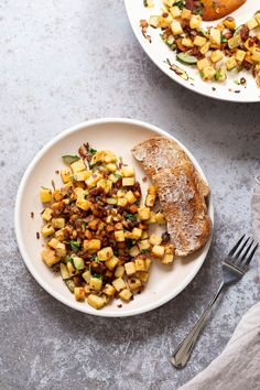 Chickpea Tofu Breakfast Scramble with Smoky Bits: Chickpea Tofu Breakfast Scramble with Smoky Bits. Chickpea tofu is chopped and cooked with smoky flavors to make a smoky topping. Tofu Breakfast, Vegan Breakfast Recipes, Vegetarian Recipes, Cooking Recipes, Breakfast Ideas, Chickpea Recipes, Free Breakfast, Ww Recipes, Vegan Meals