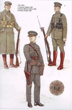 Irish Free State National Army uniforms during the 1920s.