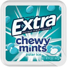 Introducing the next mint sensation: NEW Extra Chewy Mints. From the makers of Extra Gum, this chewy mint has two layers: a thin, crispy outer shell and a chewy, freshening core. Altoids Mints, Extra Gum, Bubble Gum Flavor, Mint Gum, Coupon Queen, Baby Animals Super Cute, Printable Coupons, Life Savers, Mint Chocolate