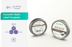 Ad: Balm Aluminum Tin Mockup vol. by Crafted Mockups on Volume