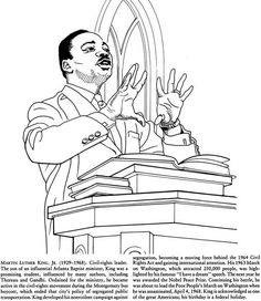 Great African Americans Coloring Book MARTIN LUTHER KING JR.Welcome to Dover Publications