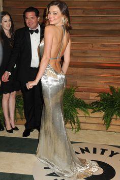 Miranda Kerr in KaufmanFranco at an Oscars after-party   - HarpersBAZAAR.com