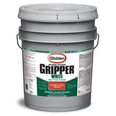 Glidden 5-Gallon Primer-GL3210-1200-05 at The Home Depot $108.  For painting the vinyl countertop, wood panel walls, and faux stone backsplash