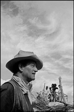 John Wayne on the set of The Alamo, 1959.