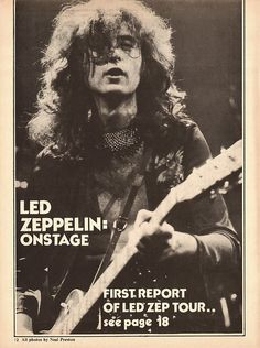 Jimmy Page . . . First Report of                            Led Zep Tour . . Pht: Neal Preston.