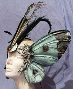 Cabbage Moth Mask. $145.00, via Etsy.