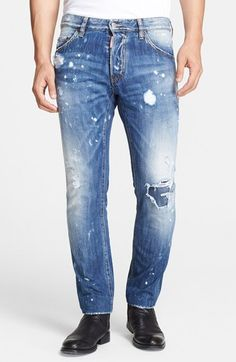 Dsquared2 'Cool Guy' Slim Fit Distressed Jeans available at #Nordstrom