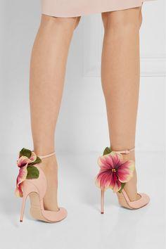 Brian Atwood | Floral-appliquéd ayers sandals | NET-A-PORTER.COM