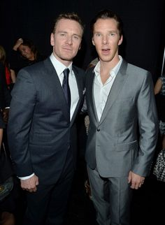 Michael Fassbender & Benedict Cumberbatch arrive at the '12 Years A Slave' Premiere