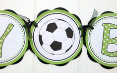 Soccer HAPPY BIRTHDAY Banner Party by getthepartystarted on Etsy, $25.50