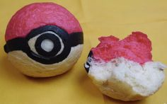For all the Pokémon lovers out there - enjoy baking this little Pokéball bread to revive some fun childhood memories!. Ingredients: 95g bread flour, 2g dry yeast, 1/4tsp (1g) salt, 65g water, 10g room-temperature, unsalted butter, red food coloring, 30g sugar, 10g egg, 40g cake flour, 8g skim milk, 2 teaspoons (5g) black cocoa powder