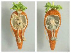 In diesem Jahr möchte ich meinen Osterstrauch mal etwas anders schmücken. Aus diesem Grund sind diese süssen Anhänger in Form einer Karotte entstanden, es müssen ja nicht immer Eier sein ....... Hast du nun auch Lust bekommen ?????? Kein Problem , mi