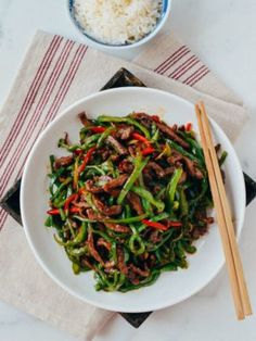 Beef and pepper stir-fry, seared over super high heat, is an easy, delicious weeknight dish. Add this beef and pepper stir fry to your weeknight rotation! Asian Recipes, Beef Recipes, Cooking Recipes, Ethnic Recipes, Chinese Recipes, Chinese Food, Asian Foods, Chinese Meals, Cookbook Recipes