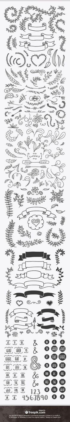 ever handsketched free vector elements Doodles for bullet journal.Doodles for bullet journal. Banners, How To Draw Ribbon, Bibel Journal, Wood Burning Patterns, Wood Burning Crafts, Chalkboard Art, Bullet Journal Inspiration, Doodle Inspiration, Creative Inspiration