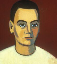 Unto Pusa, Self-portrait, oil on canvas, 73 x 60 cm