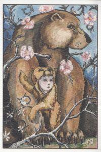 The Empress card in the Stolen Child Tarot.
