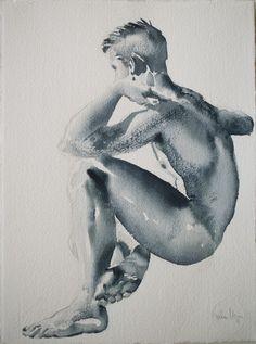 """Saatchi Online Artist: jordan mejias; Watercolor, 2010, Painting """"RWL"""""""