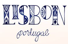 "Square Carousel Illustration Collective • Challenge 16: Letter Playground ""Lisbon, Portugal"""