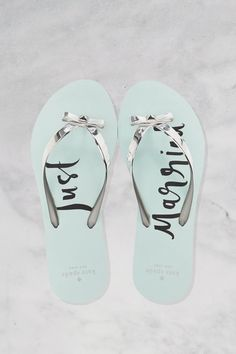 fa6915b8f09dc Just Married Flip Flops - fun for beach weddings