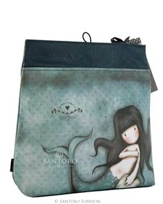 Large Fold Over Cosmetic Bag, Awashed - Santoro's Gorjuss - Santoro London