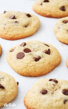 The ultimate healthy egg-free chocolate chip cookies -- soft, chewy & perfect! only 66 calories! you'll never use another recipe again! Easy Baking Recipes, Healthy Baking, Cookie Recipes, Dessert Recipes, Free Recipes, Pumpkin Recipes, Healthy Cookies, Healthy Desserts, Healthy Recipes