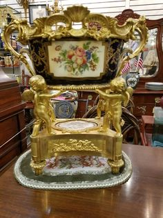 19th Century service vase with bronze mounts, $5950.  Gaslamp Antiques too, booth T293.