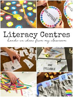 Literacy Centre Ideas - hands-on literacy center activities perfect for 5-8 years   you clever monkey